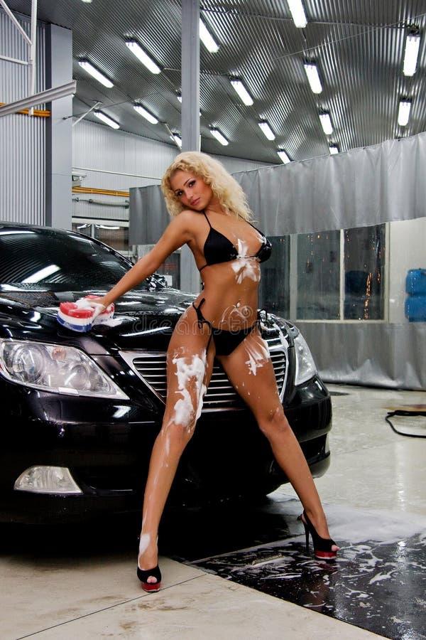 Download Girl Washing A Car Stock Image - Image: 19896211