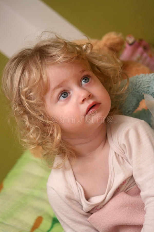 Download Girl watching tv stock image. Image of blue, rose, expression - 20710015