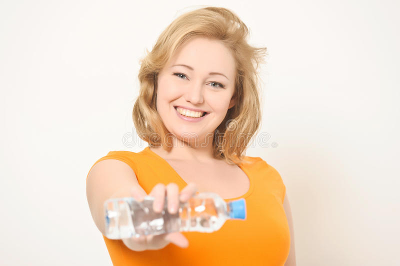 Download The Girl With A Water Bottle Stock Image - Image: 23588107