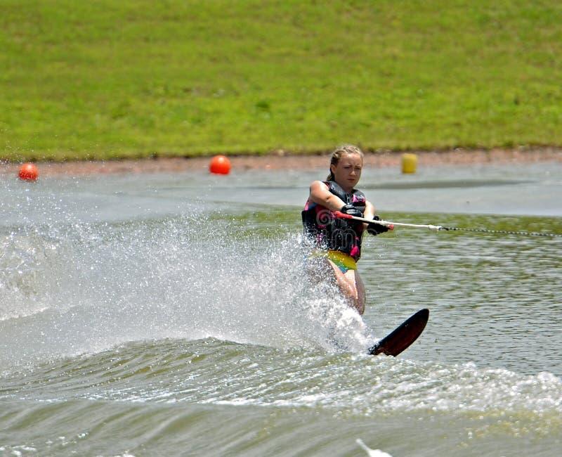Girl Water Skiing stock photography