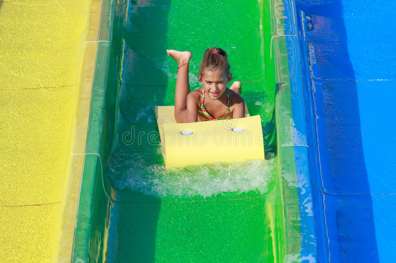 Download Girl On The Water Slide Stock Image - Image: 26738351
