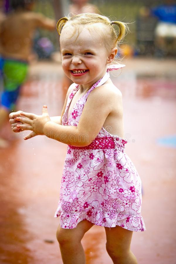 Download Girl at waterpark stock image. Image of beautiful, child - 20249071