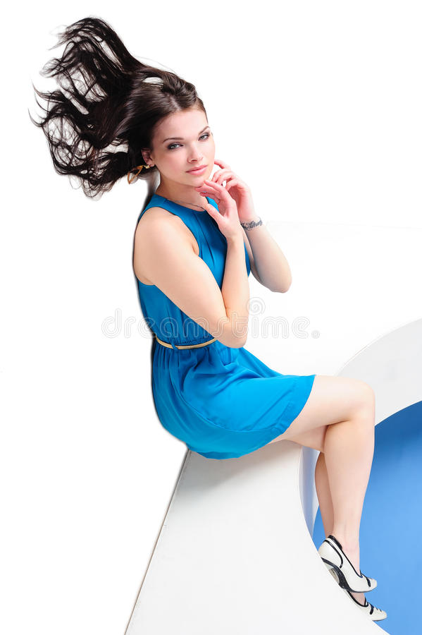 Download Girl with waving hair stock photo. Image of length, charming - 25264414