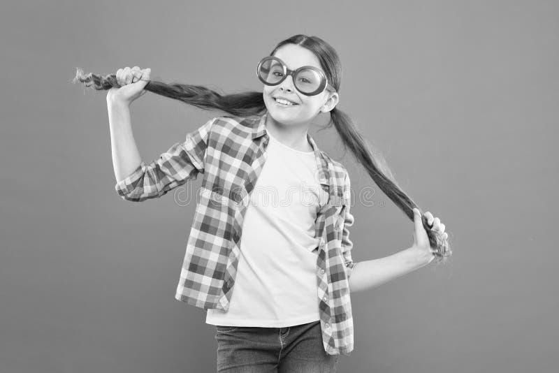 Girl wear eyeglasses. Ultraviolet protection crucial while polarization more preference. Optics and eyesight. Child. Happy good eyesight. Summer accessory royalty free stock images
