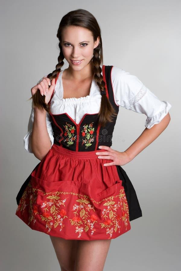 Girl Wearing Dirndl stock photos