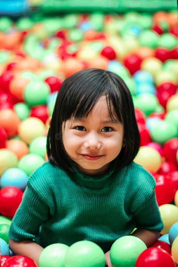 Girl Wearing Green Knit Shirt royalty free stock photos