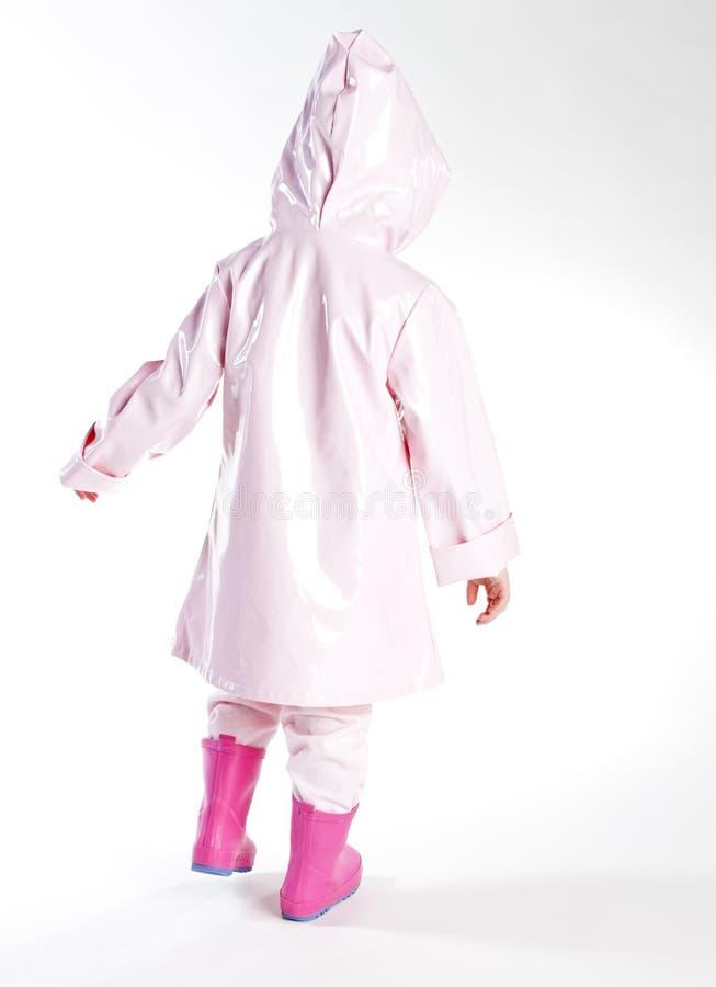Download Girl wearing raincoat stock image. Image of person, childhood - 23010567