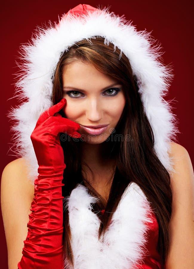 Free Girl Wearing Santa Claus Clothe Stock Photography - 11557202
