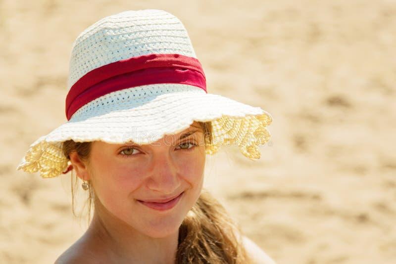 Download Girl wearing straw hat stock image. Image of joyful, summer - 15153235