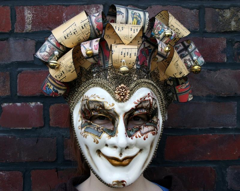 Download Girl Wearing A Venetian Carnival Mask Normal Gaze Stock Image - Image of lips, hide: 14124897