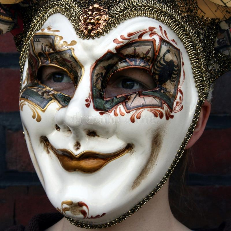 Download Girl Wearing A Venetian Carnival Mask Normal Gaze Stock Image - Image: 14125147