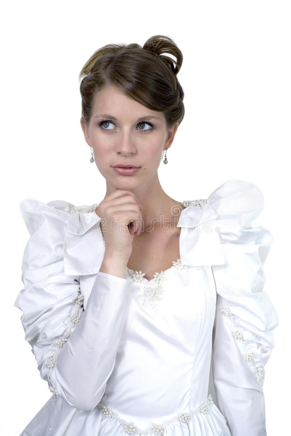 Download Girl in wedding dress stock image. Image of caucasian - 20104823