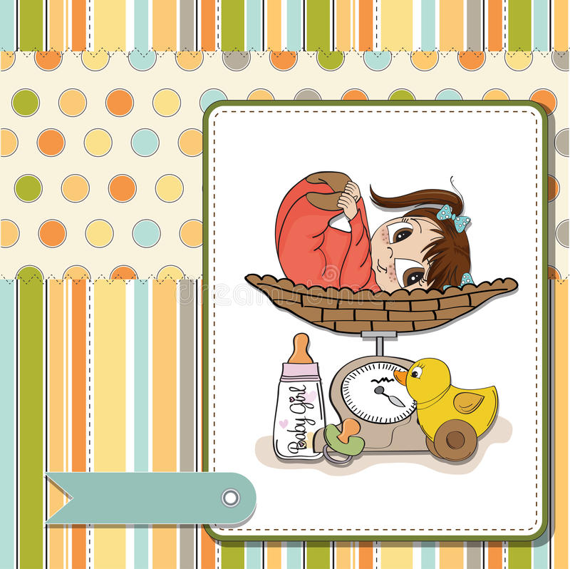 Download Girl on on weighing scale stock illustration. Image of bear - 24890657