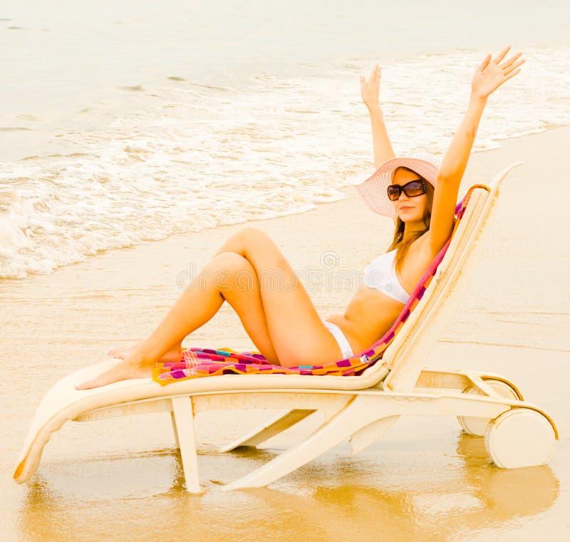Girl Welcoming Sun Stock Photos