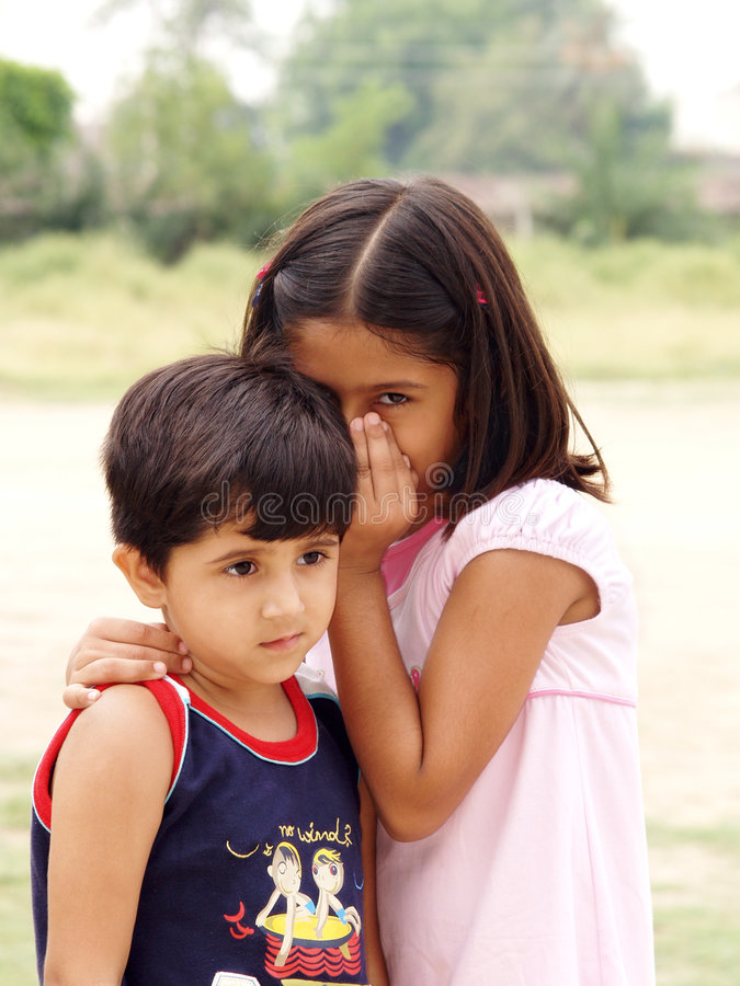 Download Girl whispering stock photo. Image of quietly, children - 3135638