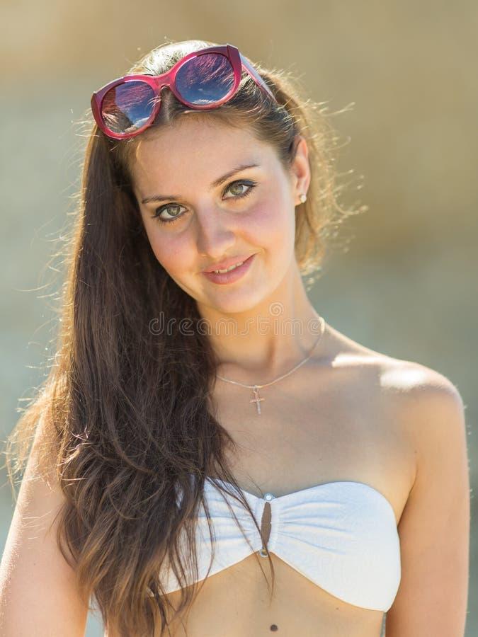 Download Girl In White Bikini Stock Photo - Image: 83706593