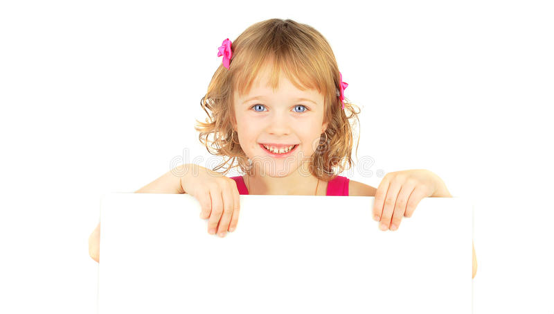 Download Girl With White Bord. Royalty Free Stock Image - Image: 19040006