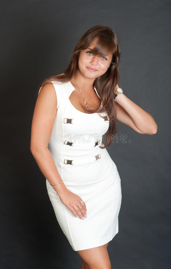 Girl In A White Dress Royalty Free Stock Image