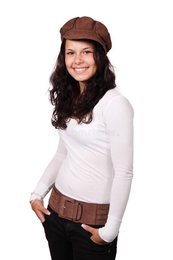 Girl In White Long Sleeve Shirt Wearing Brown Beret Free Public Domain Cc0 Image