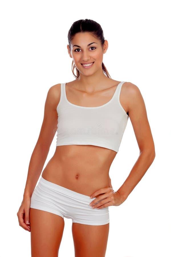 Download Girl in white underwear stock photo. Image of portrait - 34816480