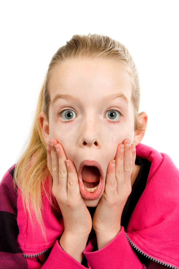 Download Girl who is amazed stock image. Image of face, happiness - 8020461