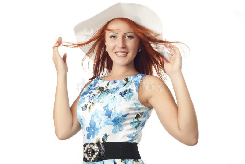 Girl in wide brimmed hat