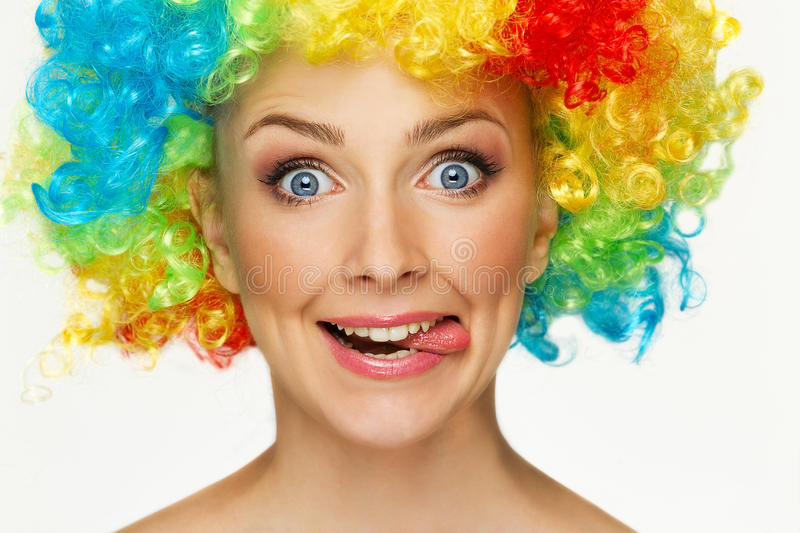 Download Girl in wig stock photo. Image of image, curly, ecstatic - 26547620