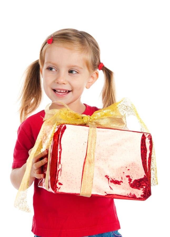 Free Girl Wih The Present Stock Photo - 16479310