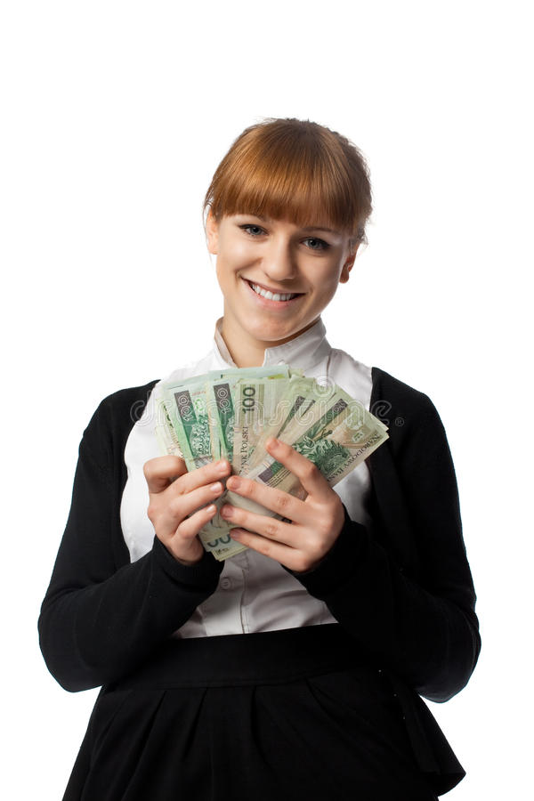 Download Girl Win Lots Of Money Stock Photography - Image: 14094132