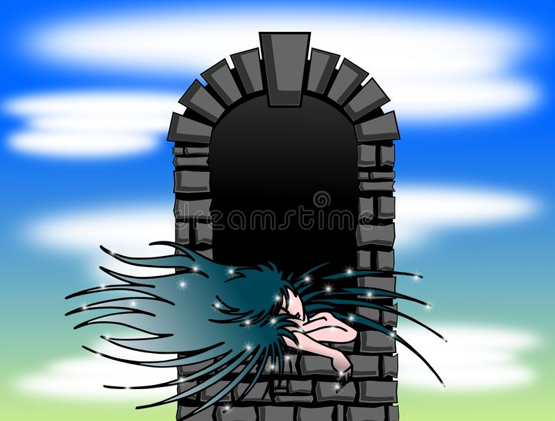 Download Girl at the window stock illustration. Image of waiting - 24482530