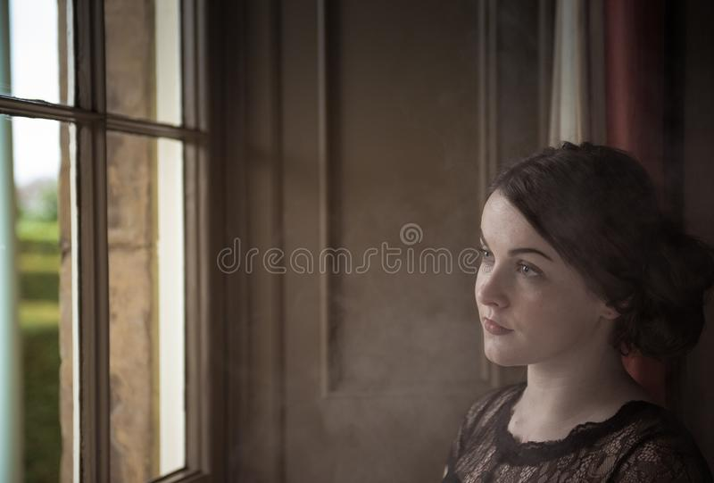 Girl, Window, Portrait Photography, Portrait royalty free stock images