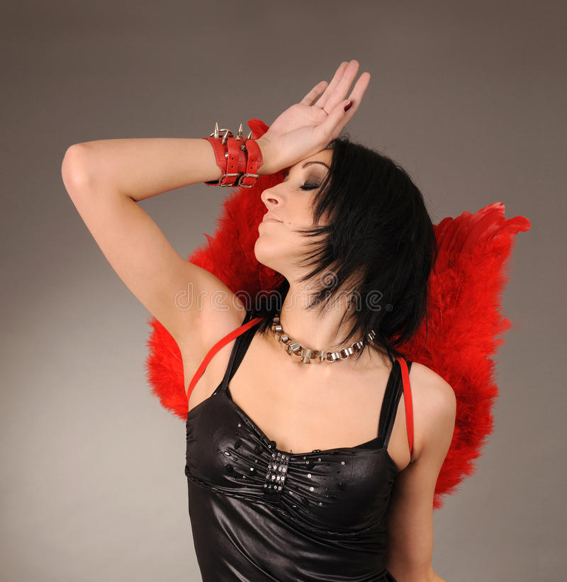 Download Girl With Wings And Handcuffs Royalty Free Stock Photos - Image: 15209758