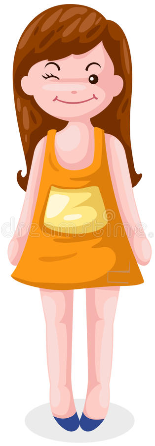 Download Girl winking eyes stock vector. Image of female, happiness - 22695173