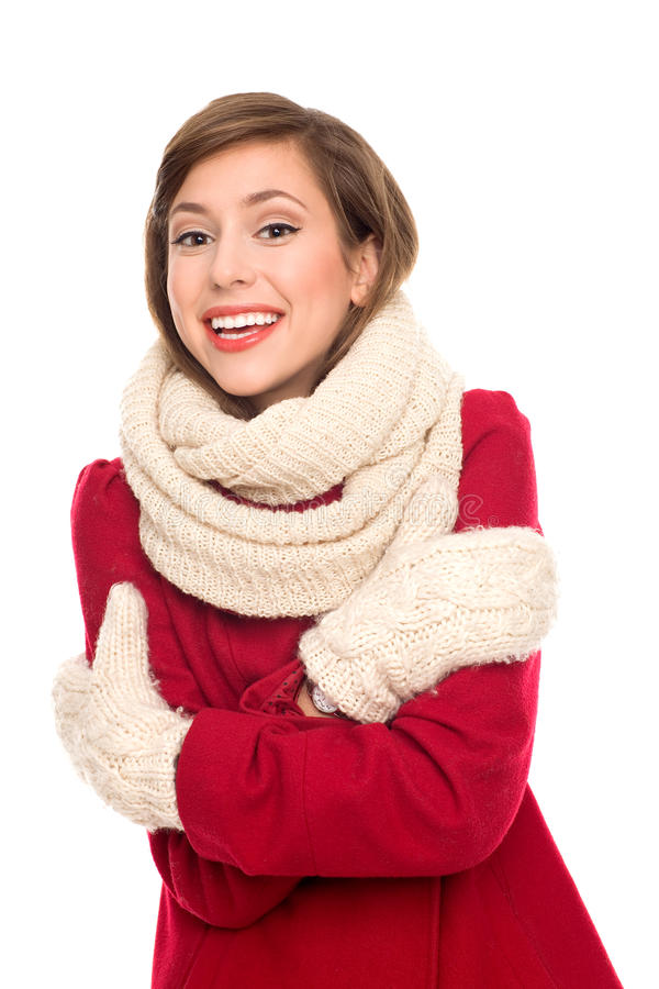 Download Girl in Winter Clothing stock image. Image of comforter - 22359923