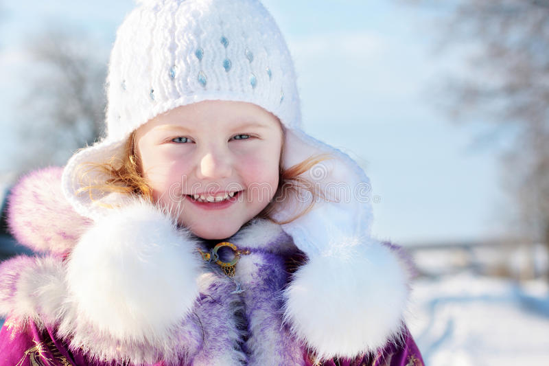 Download Girl in winter park stock photo. Image of blue, december - 16313430