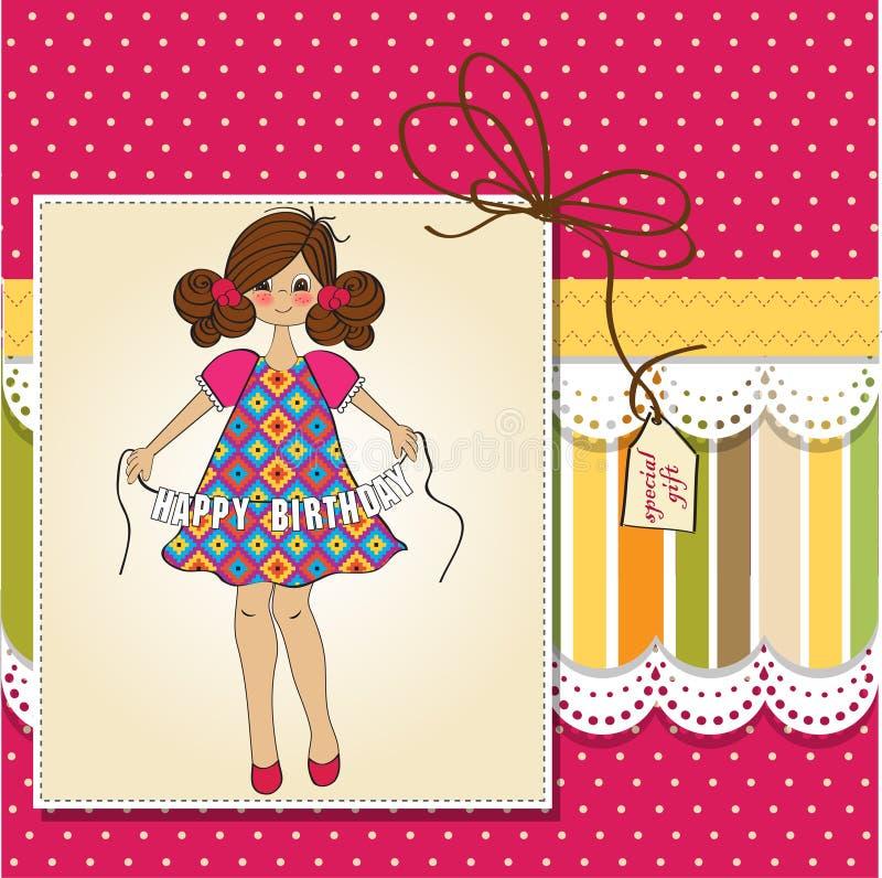 Download Girl Wishing You Happy Birthday Stock Illustration - Illustration: 22900045