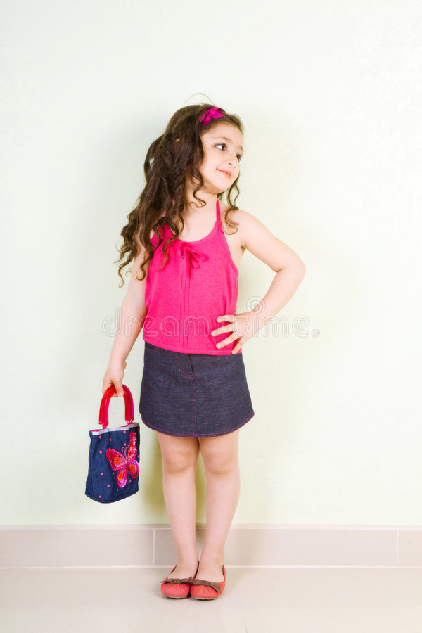 Free Girl With A Bag Royalty Free Stock Photo - 8451155