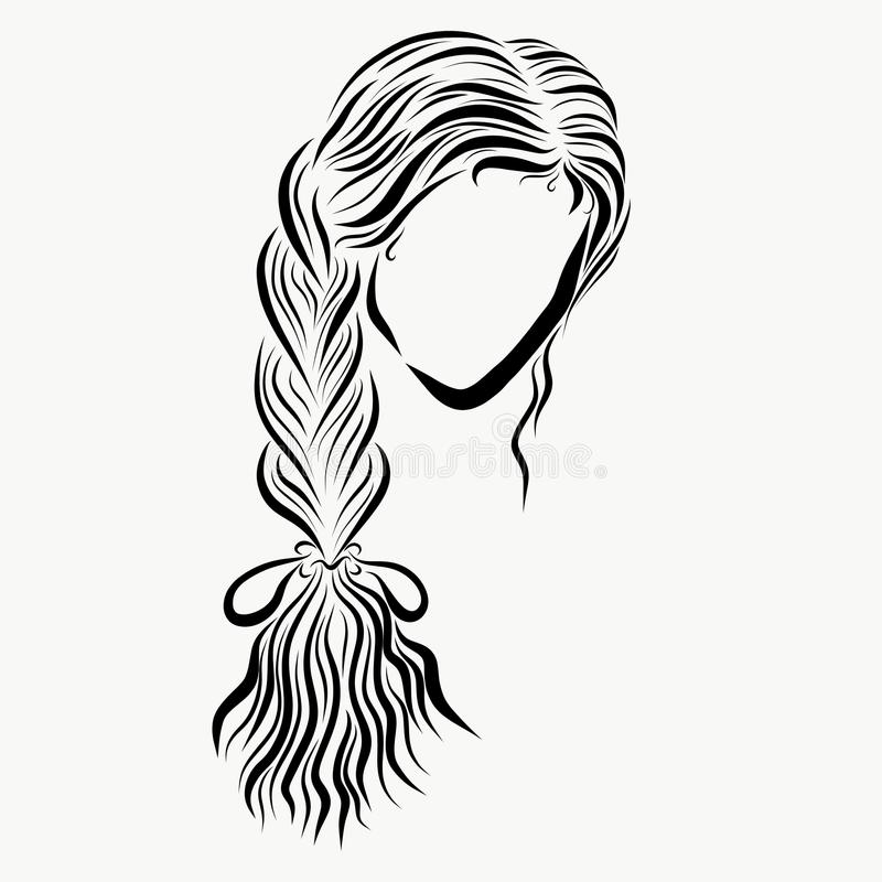 Free Girl With A Beautiful Long Pigtail Stock Images - 115945844