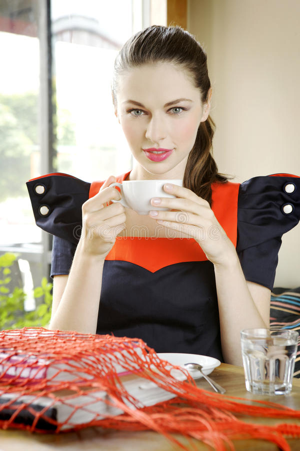 Free Girl With A Cup Of Coffee In Hand Stock Photo - 20711510