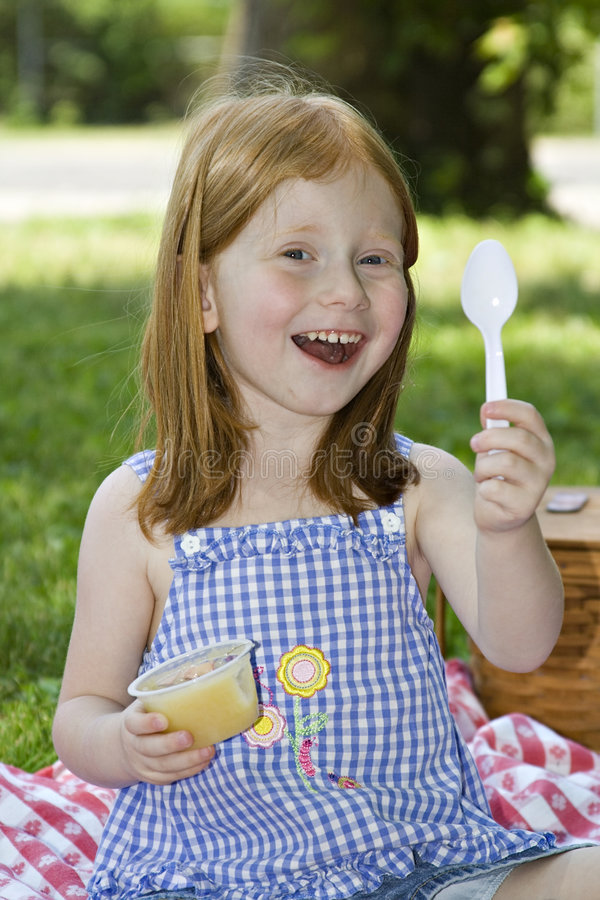 Free Girl With Applesauce Stock Photos - 889523