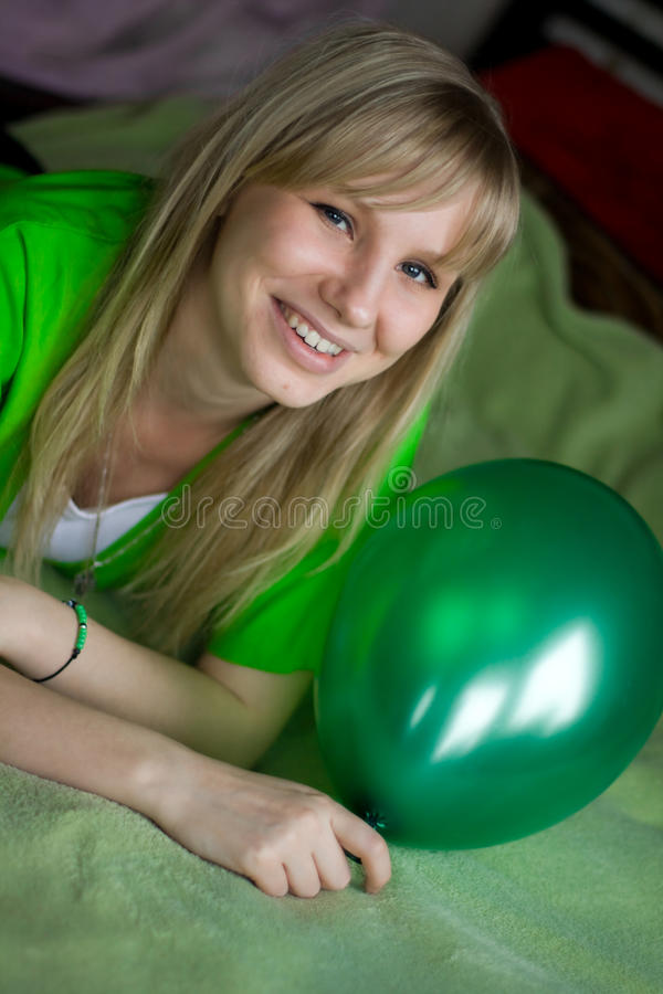 Free Girl With Balloon Royalty Free Stock Images - 12449329