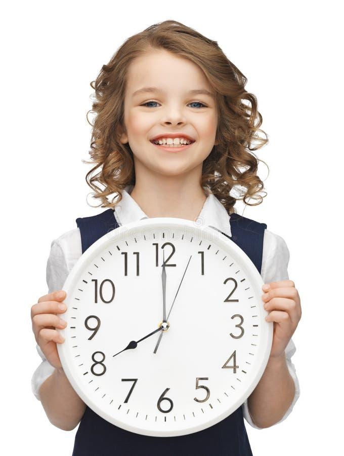 Free Girl With Big Clock Stock Photos - 29751803