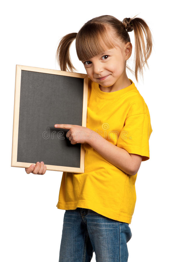 Free Girl With Blackboard Royalty Free Stock Image - 23747326