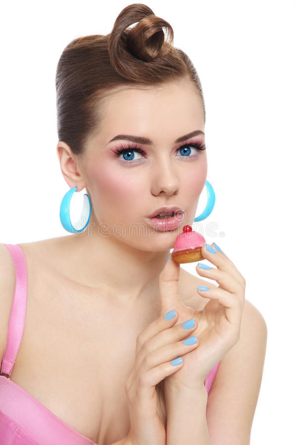 Free Girl With Cake Royalty Free Stock Photo - 42078255