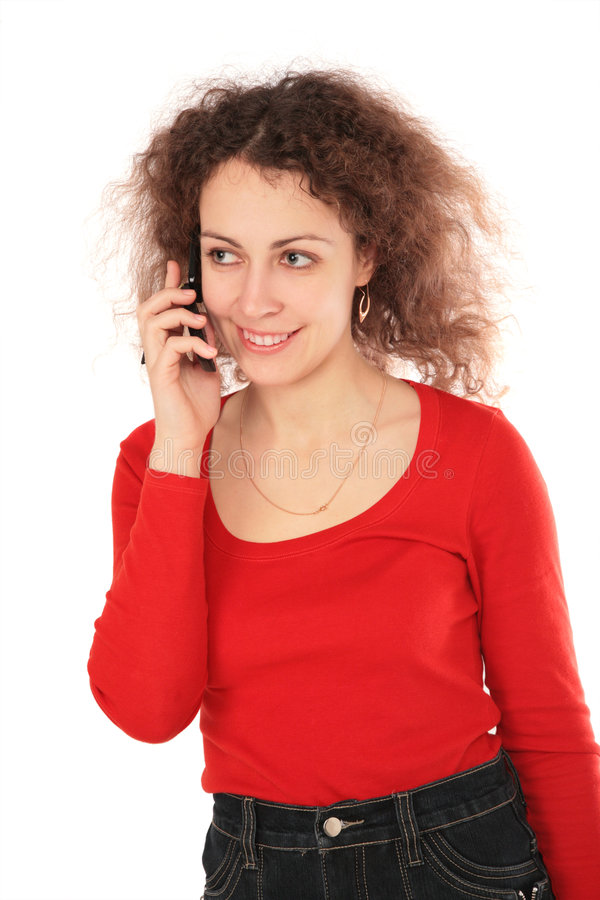 Free Girl With Cellphone Stock Photos - 4857553