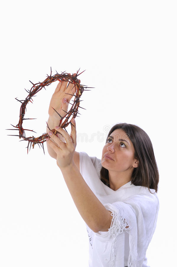 Free Girl With Crown Of Thorns Royalty Free Stock Photos - 17695158