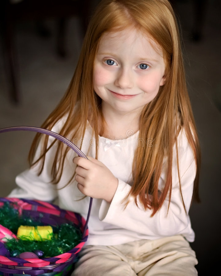 Free Girl With Easter Basket Royalty Free Stock Photo - 2298855