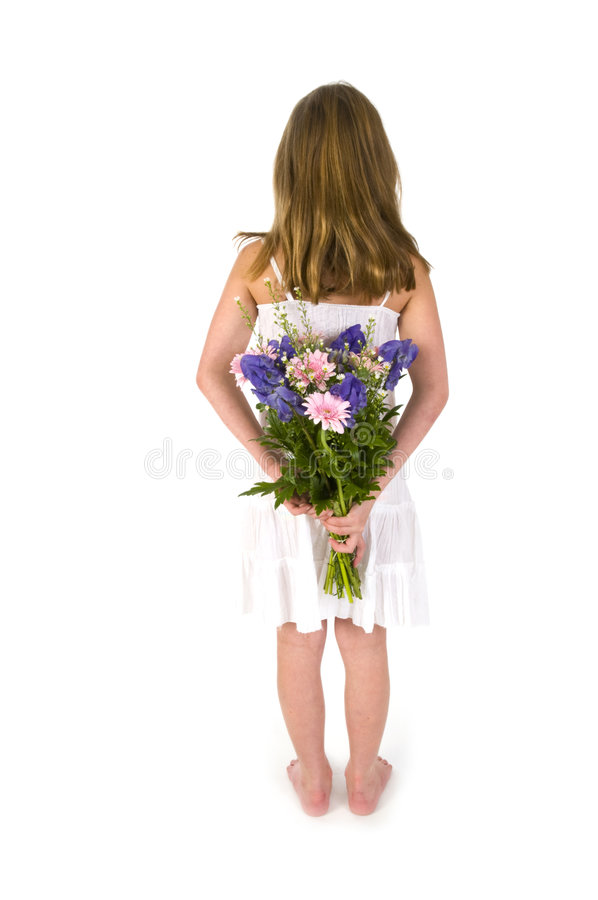 Free Girl With Flowers Royalty Free Stock Photography - 7024267