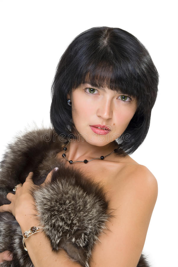 Free Girl With Fur Stock Photography - 12303832