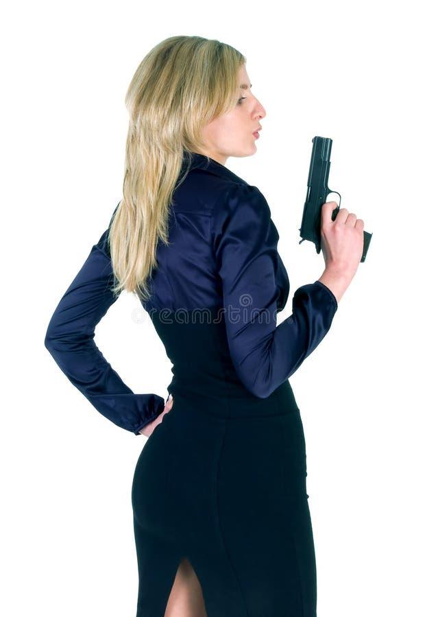 Free Girl With Gun Stock Image - 8580371